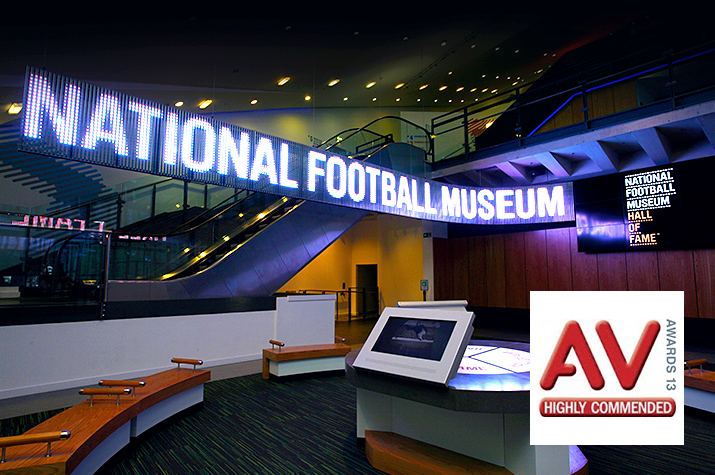 National Football Museum AV 'Highly Commended'